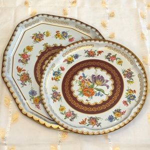 Metal Serving Trays by Daher, Set of 2